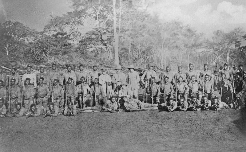 Eisenbahnbau in der deutschen Kolonie Kamerun