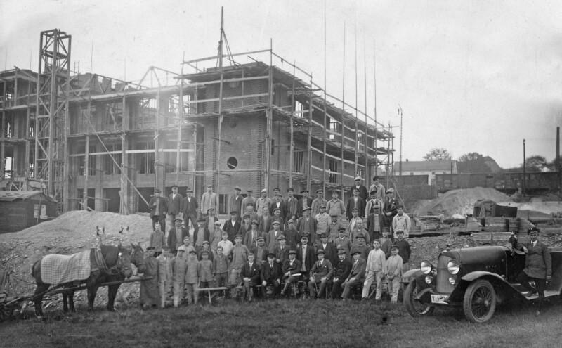 Neubau Druckerei Carl Werner (sp?ter Renak) in Reichenbach Ende der 20er Jahre